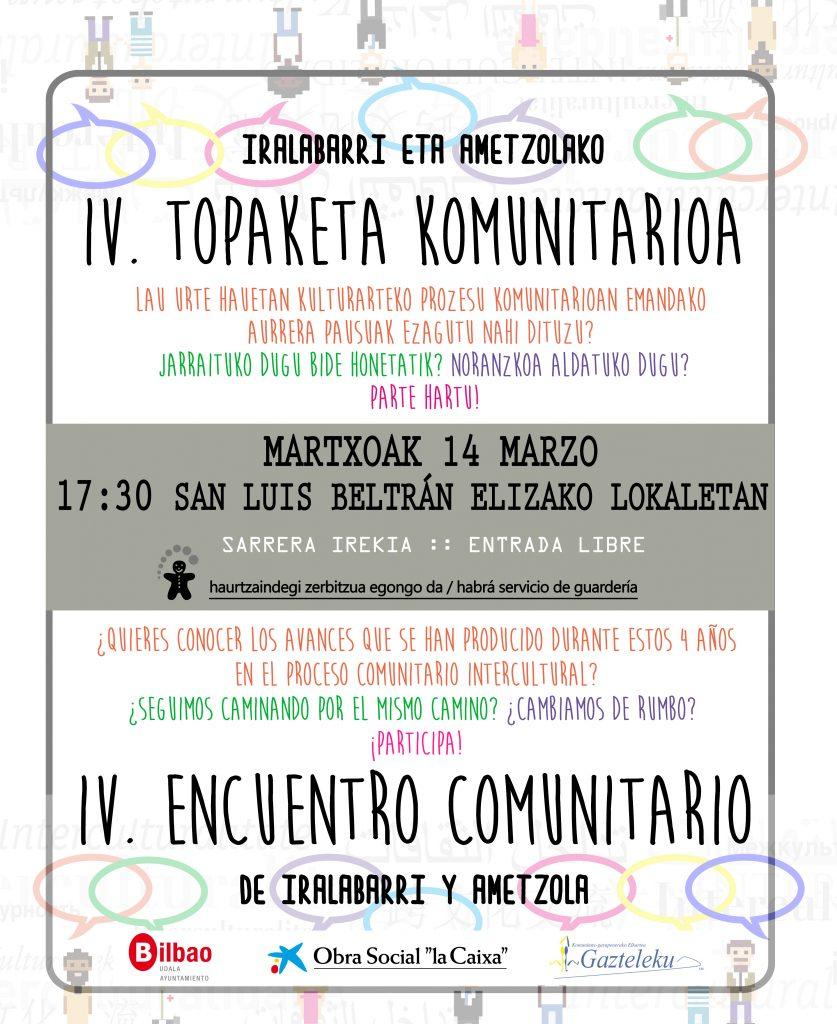 BADATOR TOPAKETA KOMUNITARIOA / YA LLEGA EL ENCUENTRO COMUNITARIO